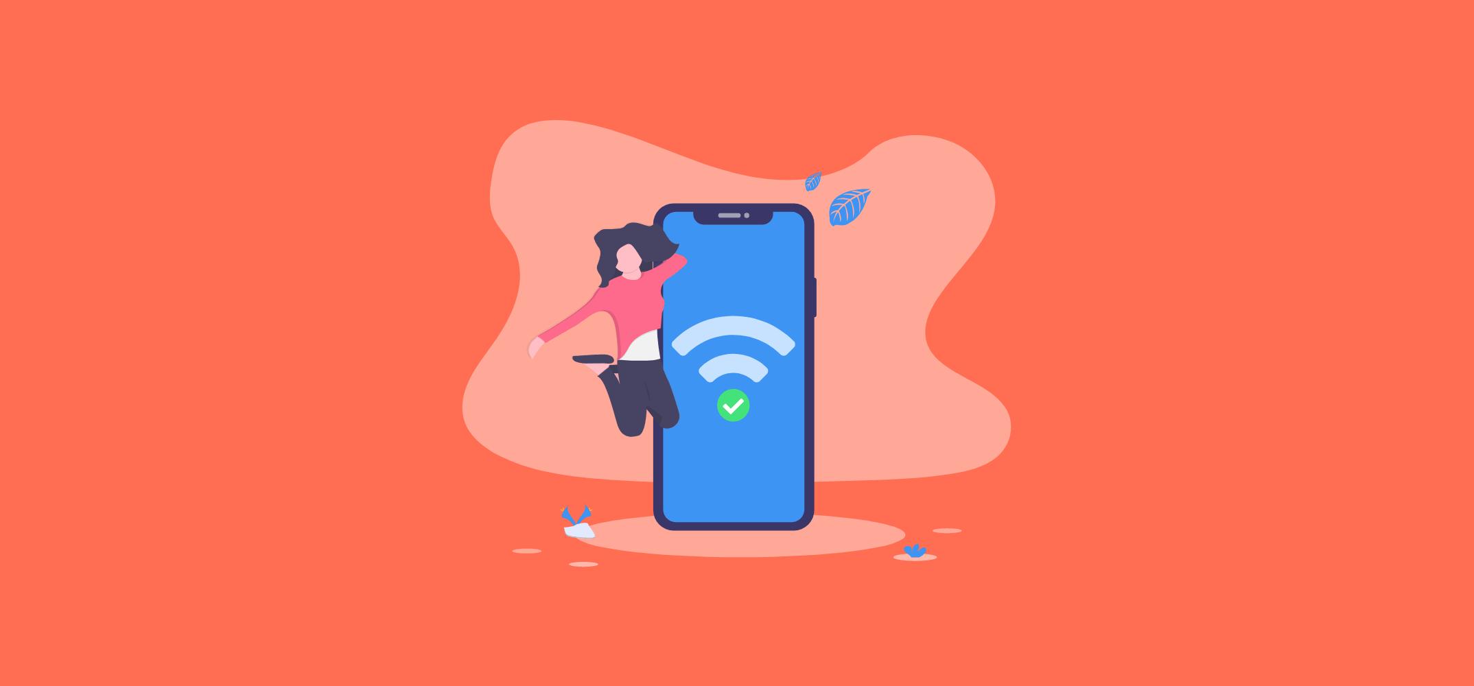 Успешное подключение к Интернет через Wi-Fi хотспот