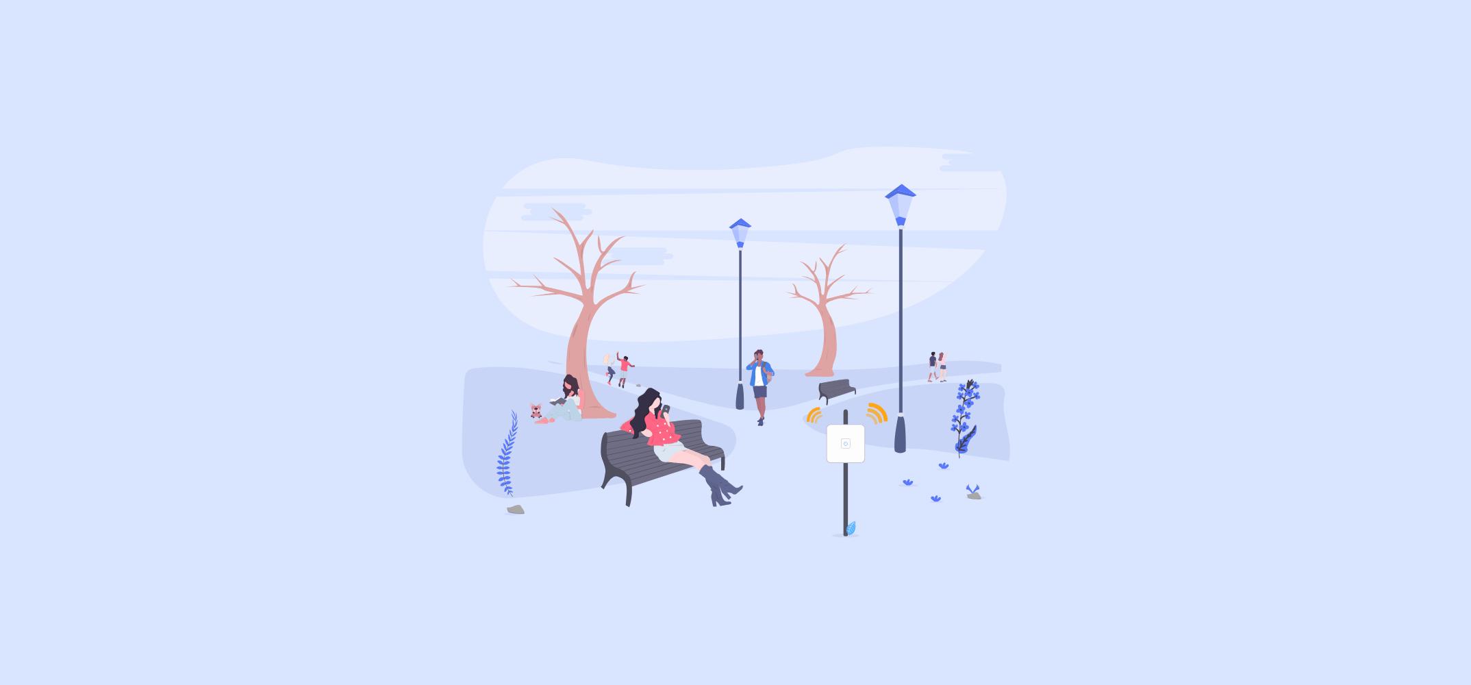 Общественный Wi-Fi с рекламой в парке