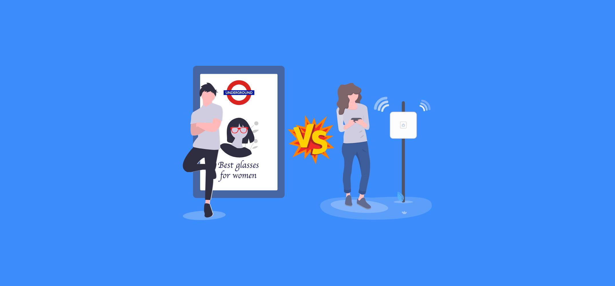 Реклама в метро против Wi-Fi рекламы