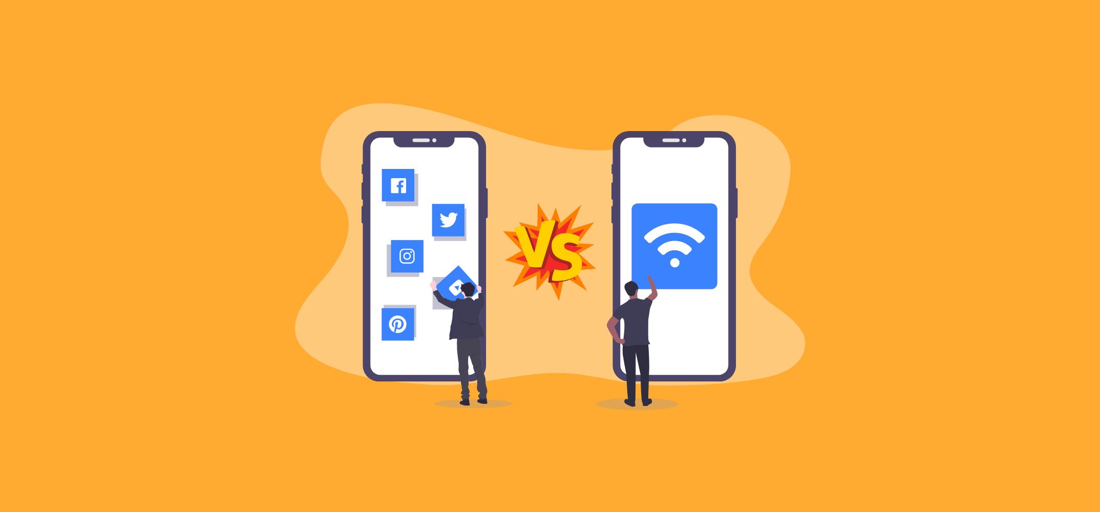 Реклама в соцсетях против рекламы на Wi-Fi