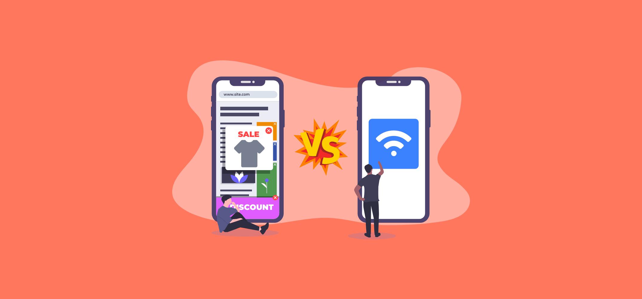 Интернет реклама против рекламы на Wi-Fi